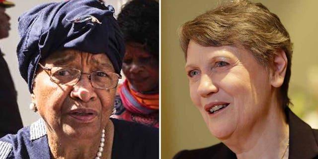 "Former Liberian President Ellen Johnson Sirleaf and former New Zealand Prime Minister Helen Clark are tasked with giving ""an honest assessment"" of the pandemic. (AP)"