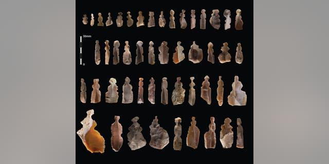 The figurines.