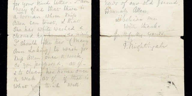 Letters written between 1892 and 1894, the night of the Warbler in her late 70's.