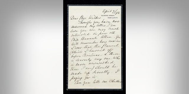 The letters were discovered in a Victorian-era Desk. (Hansen Green Hills auction)