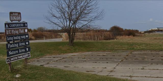 Floyd Bennett Field, the site of the fatal crash in Brooklyn.