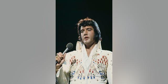 Elvis Presley, circa 1973.