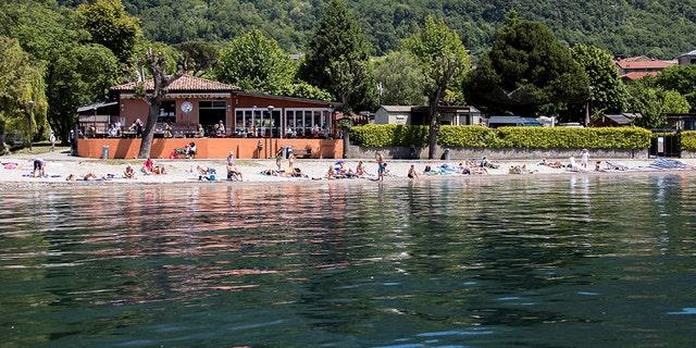 Abbadia Larian village, located along Lake Como in Lombardy, Italy.