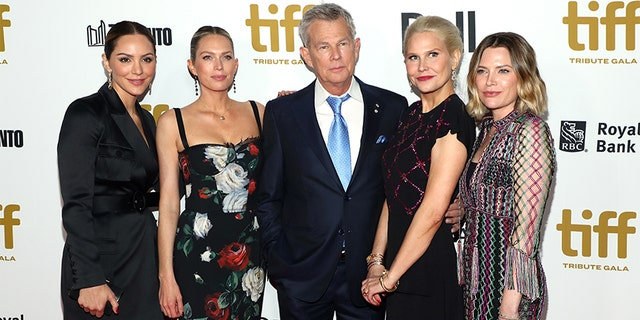 (L-R) Katharine McPhee, Jordan Foster, David Foster, Amy Foster and Erin Foster attend the 2019 Toronto International Film Festival TIFF Tribute Gala at The Fairmont Royal York Hotel on September 09, 2019, in Toronto, Canada.