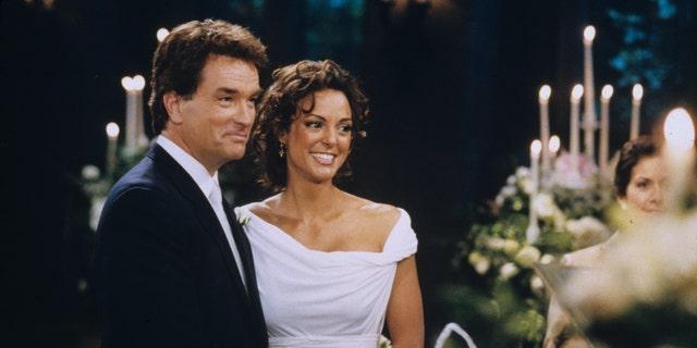 John Callahan as Edmund and Eva LaRue as Maria on 'All My Children.' (ABC/STEVE FENN)