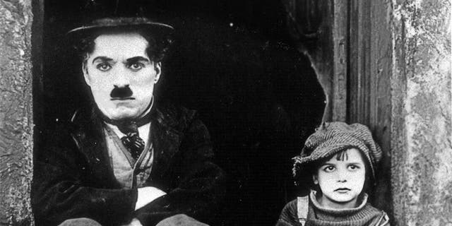 Charlie Chaplin with Jackie Coogan.