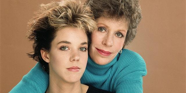 Carrie Hamilton and Carol Burnett, circa 1987.