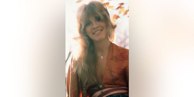American singer and songwriter Stevie Nicks of rock band Fleetwood Mac, in New Haven, Conn., October 1975.