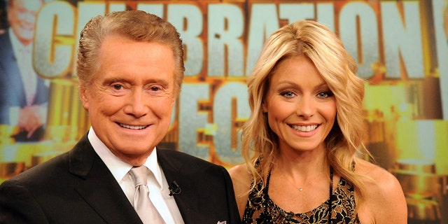 Regis Philbin (left) with Live!  With Regis and Kelly for a few years with Kelly Ripa.  Philbin died of 88 natural causes.  (Photo by David Russell / Walt Disney TV on Getty Images)