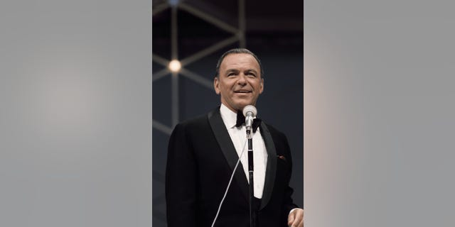 Singer and actor Frank Sinatra performs on the television special 'Francis Albert Sinatra Does His Thing' on August 15, 1968.