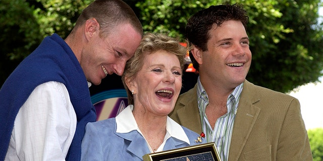 Actress Patty Duke (C) and sons MacKenzie (L) and Sean Astin attend the ceremony honoring her with a star on the Hollywood Walk of Fame Aug. 17, 2004, in Hollywood, Calif.