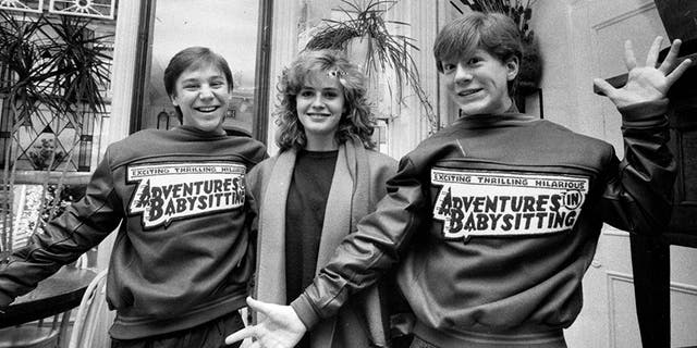 'Adventures in Babysitting' stars Keith Coogan, left, Elisabeth Shue, center, Anthony Rapp, right, on February 20, 1987.