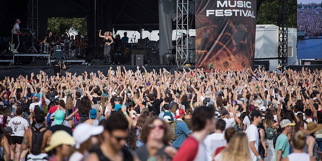 A crowd at the Austin City Limits Music Festival at Zilker Park