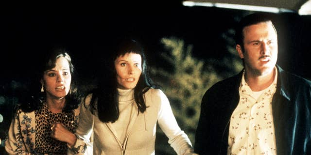 From l-r: Parker Posey, Courteney Cox Arquette and David Arquette in Wes Craven's 'Scream 3.' (Joseph Viles Dimension Films)