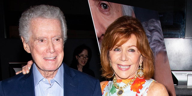 """NEW YORK, NY - JULY 26: Regis Philbin and Joy Philbin attend """"The Wife"""" New York Screening at The Paley Center for Media on July 26, 2018 in New York City. (Photo by Paul Zimmerman/WireImage)"""