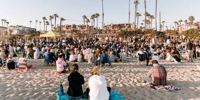 Around 1,000 people gathered at the Saturate OC evangelical Christian event July 10.