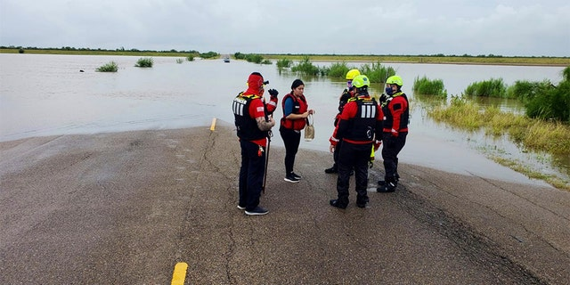 Water rescues continue in McAllen, Texas after flooding from Hurricane Hanna.