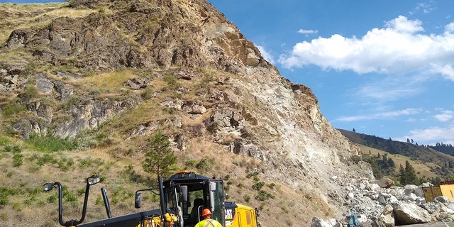 Crews worked through the holiday weekend to try to reopen U.S. Route 95 in Idaho after a rockslide on Friday.