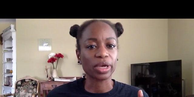 YahNé Ndgo, a leader in the Black Lives Matter (BLM) Philadelphia chapter