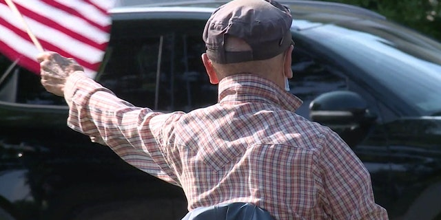 Many passing drivers wave or honk their horns when they go by.(Courtesy FOX61)