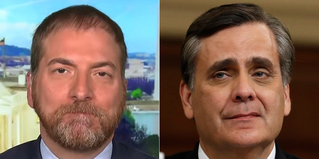 Chuck Todd was called out by George Washington University law professor Jonathan Turley.
