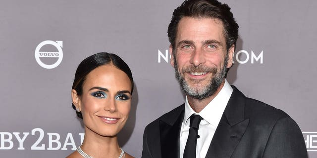 Jordana Brewster and Andrew Form attend the 2019 Baby2Baby Gala Presented By Paul Mitchell at 3LABS on November 09, 2019 in Culver City, California. (Photo by Axelle/Bauer-Griffin/FilmMagic)