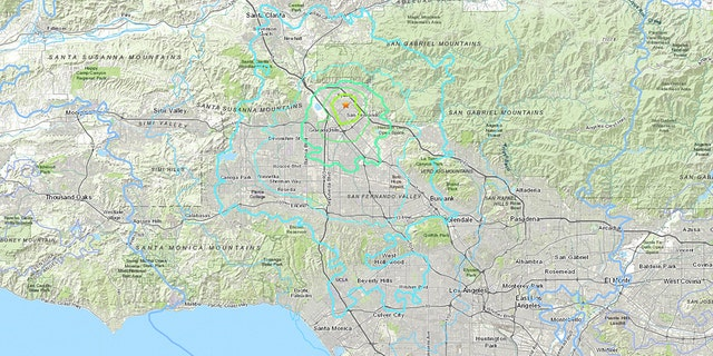 The 4.2 temblor shook the San Fernando Valley, north of Los Angeles, around 4:30 a.m. Thursday.