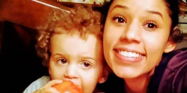 Leila Cavett, 21, with her 2-year-old son Kamdyn. Police have been looking for her since finding the little boy wandering alone July 26.