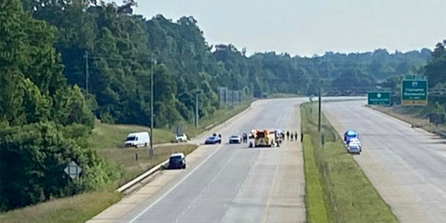 I-485 in Charlotte, N.C., was closed after a vehicle struck a trooper.