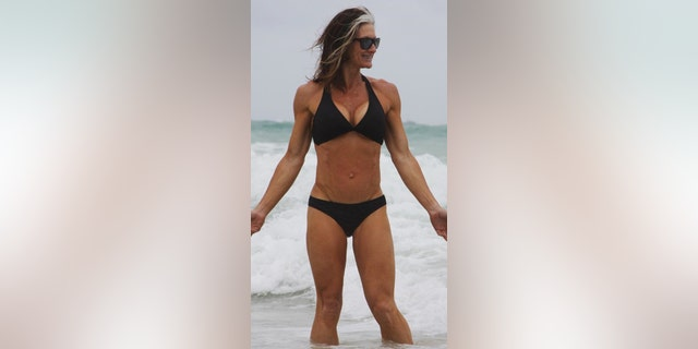 The certified fitness trainer and nutrition coach says she has always been athletic and credits her incredible physique to eating well and working out routinely.