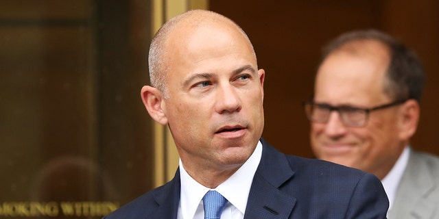 Celebrity attorney Michael Avenatti walks out of a New York courthouse after a hearing in a case where he is accused of stealing $300,000 from a former client, adult-film actress Stormy Daniels. A federal judge was granted a court-appointed attorney Wednesday after he proved he could not afford one. (Photo by Spencer Platt/Getty Images)