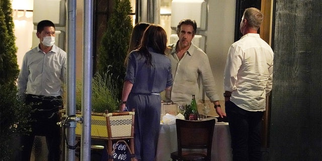 Michael Cohen dining out with three other people at the Le Bilboquet restaurant located at 20 E60th Street in New York, NY on July 2, 2020. (Photo/Christopher Sadowski) Tags: postinhouse nypostinhouse