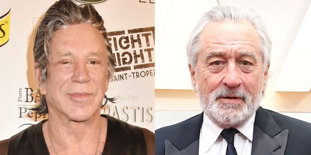 Mickey Rourke (left) and Robert De Niro have been involved in a feud since the 1980s.