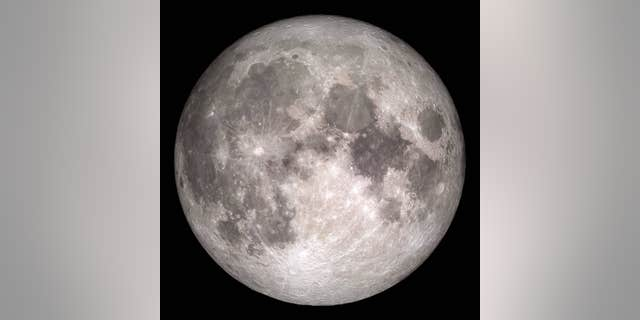 This image based on data from NASA's Lunar Reconnaissance Orbiter spacecraft shows the face of the Moon we see from Earth.