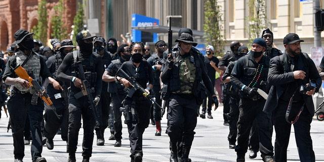 Armed members of the