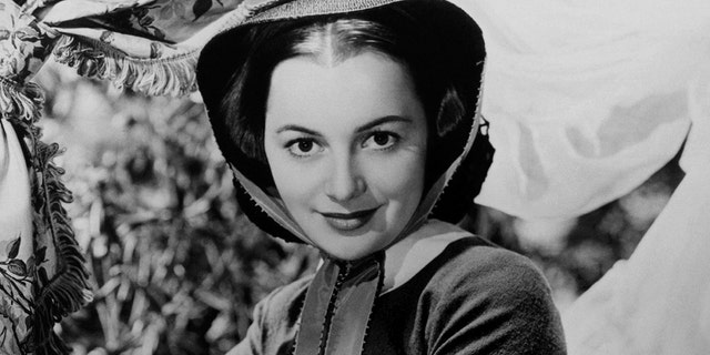 "Actress Olivia de Havilland in a still from ""Gone With the Wind"" in 1939 in Los Angeles, California. (Photo by Donaldson Collection/Michael Ochs Archives/Getty Images)"