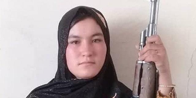 Qamar Gul reportedly used an AK-47 to kill two Taliban militants. (Twitter)