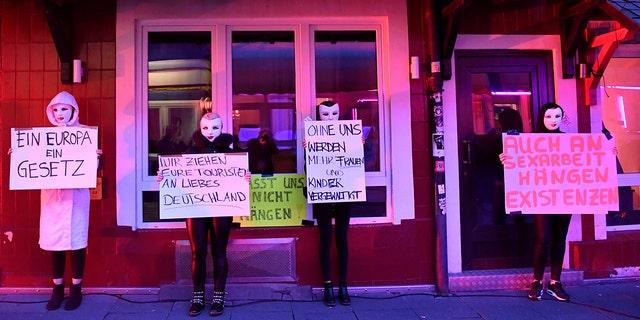 Germany sex workers demand return to work after coronavirus shutdown
