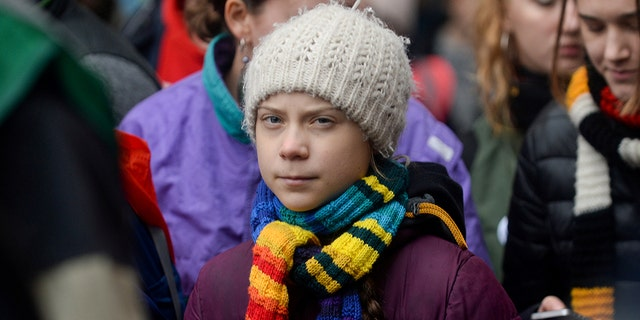 Swedish climate activist Greta Thunberg takes part in the rally ''Europe Climate Strike'' in Brussels, Belgium, March 6, 2020. REUTERS/Johanna Geron - RC2IEF99KSHH