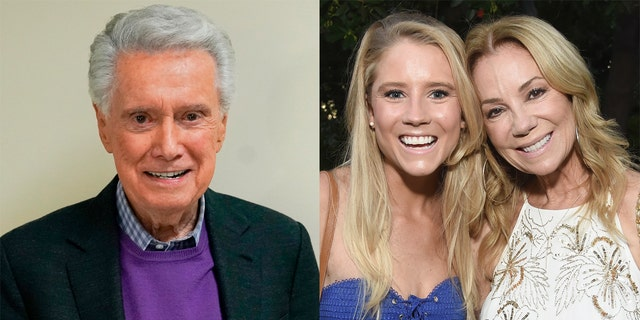 Regis Philbin (left) died at 88 of natural causes. He received a tribute from actress Cassidy Gifford, daughter of Philbin's former television co-host Kathie Lee Gifford.