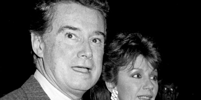 "Regis Philbin and Joy Philbin attend ""The Color of Money"" Premiere on October 8, 1986 at the Ziegfeld Theater in New York City. <br>