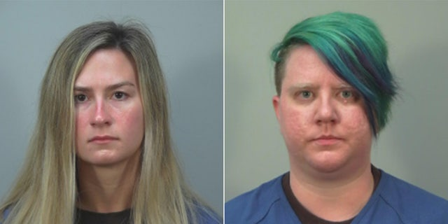 Samantha Rae Hamer right: Kerida O'Reilly. Both women turned themselves into police on suspicion of beating a state senator last month during a chaotic night of protests near Wisconsin's Capitol in Madison. (Courtesy Dane County Sheriff's Office)