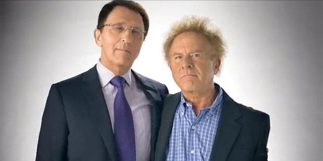 Sanford D. Greenberg (left) and Art Garfunkel.