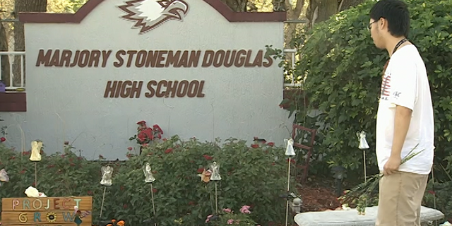 Majory Stoneman Douglas high school following the February 2018 shooting. Source/Fox News