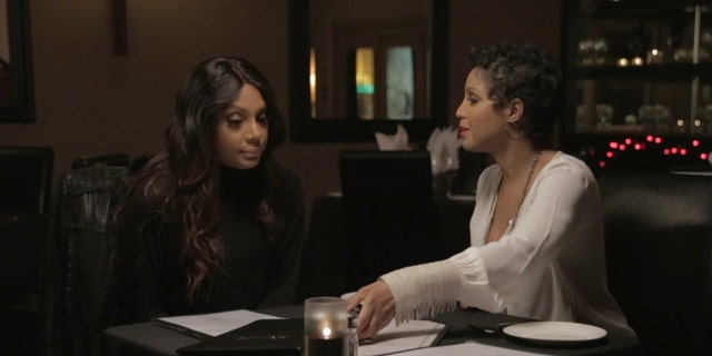 Tamar Braxton (left) with sister Toni Braxton in 'Braxton Family Values.'