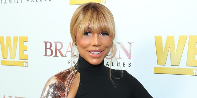 "Tamar Braxton attends WE tv's ""Braxton Family Values"" Season 6 Premiere at The Doheny Room on April 02, 2019, in West Hollywood, Calif. (Photo by Leon Bennett/Getty Images)"