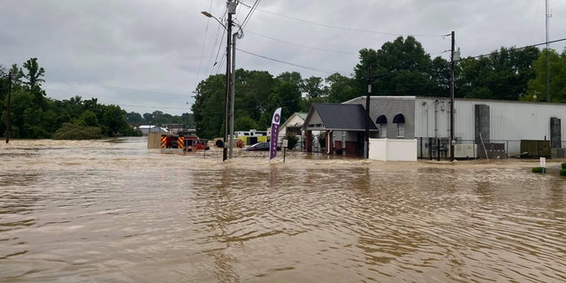 Severe flash flooding was reported Wednesday in the town of Selmer, Tenn.