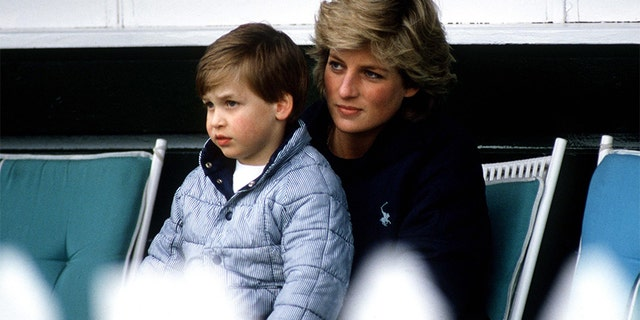 Princess Diana with Prince William.