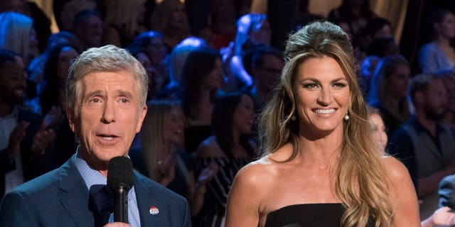 Tom Bergeron (left) and Erin Andrews (right) were hosts on 'Dancing with the Stars' until this season. (Eric McCandless/Walt Disney Television via Getty Images)