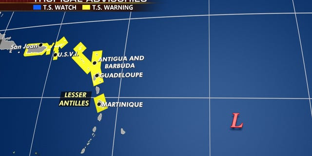 Tropical storm warnings have been issued for Puerto Rico and the Leeward Islands.